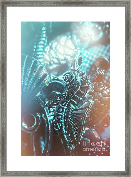 Under Blue Seas Framed Print