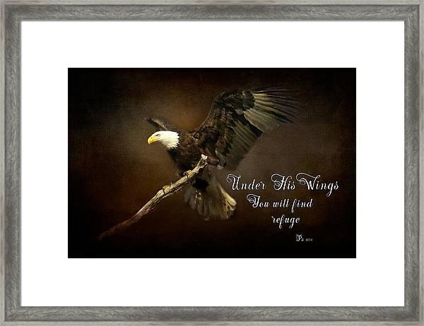 Under His Wings Framed Print