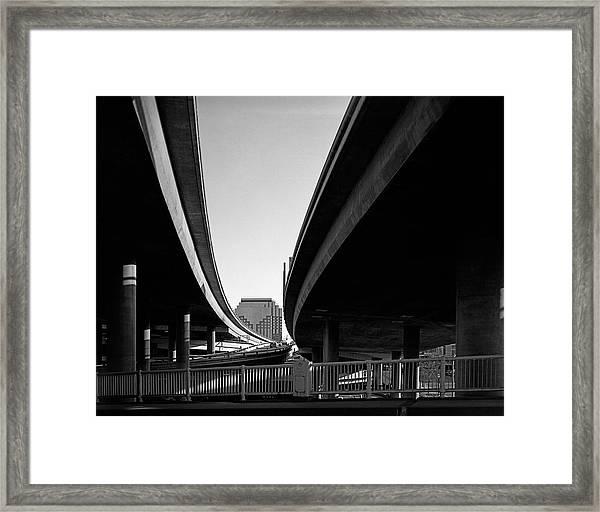 Under Interstate 5 Sacramento Framed Print