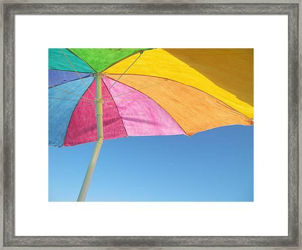 Under My Umbrella Framed Print by Mark Siciliano