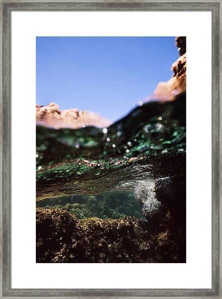 Under Rocks Framed Print