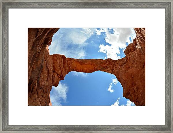 Under The Arch - Arches National Park Framed Print