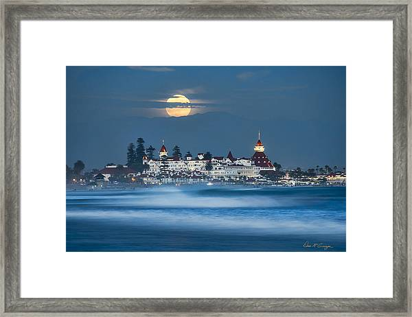 Under The Blue Moon Framed Print