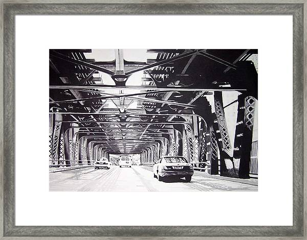 Under The El Framed Print