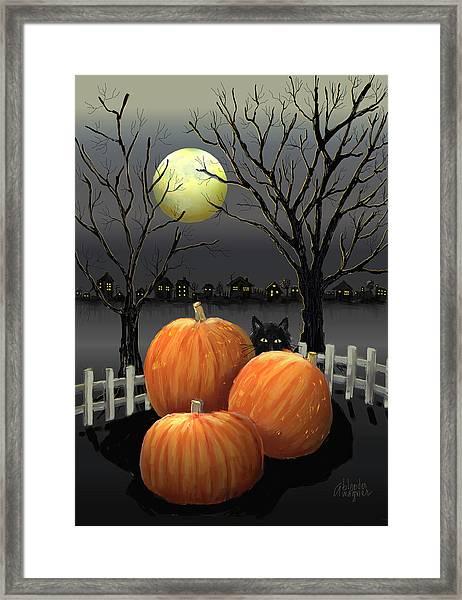 Under The Full Moon Framed Print