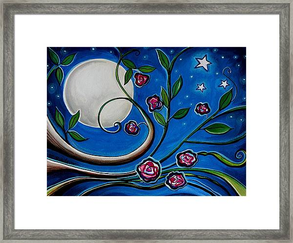 Under The Glowing Moon Framed Print