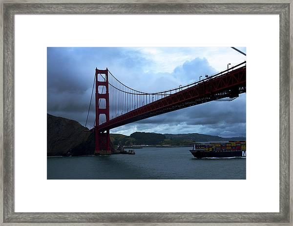 Under The Golden Gate In Early Morning Light  Framed Print