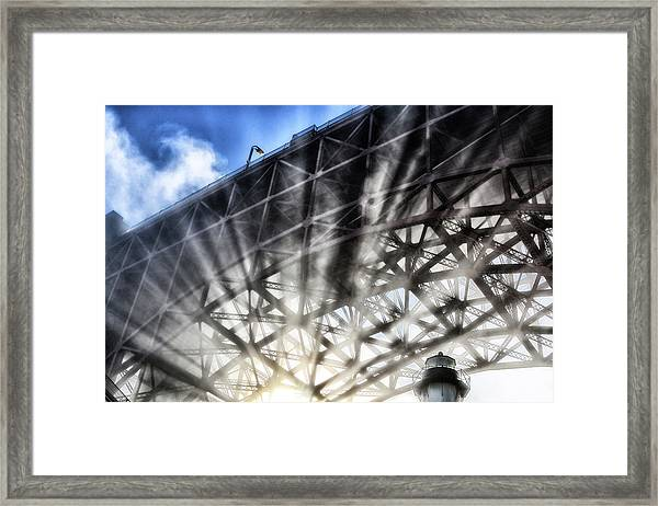 Under The Golden Gate Framed Print