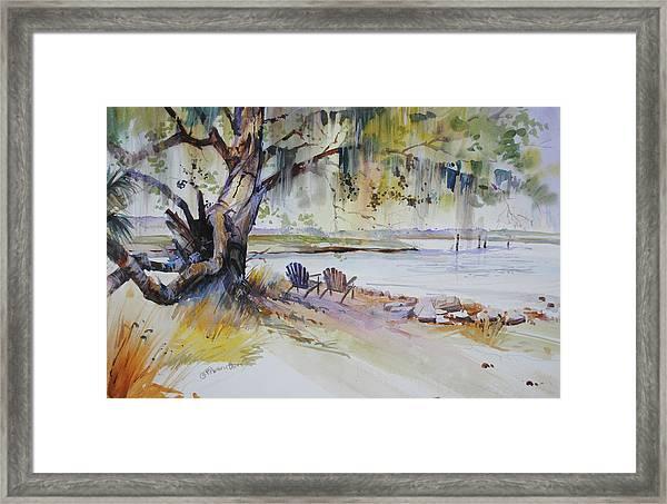 Under The Live Oak Framed Print