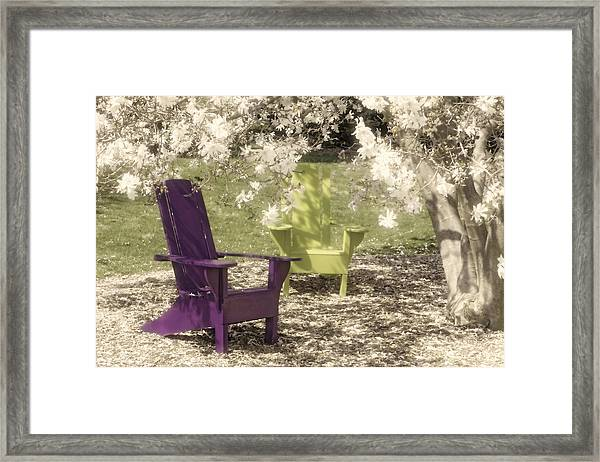 Under The Magnolia Tree Framed Print
