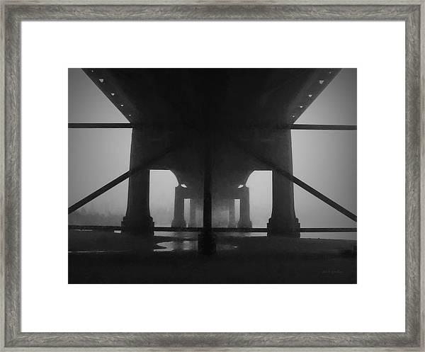 Under The Old Sakonnet River Bridge Framed Print