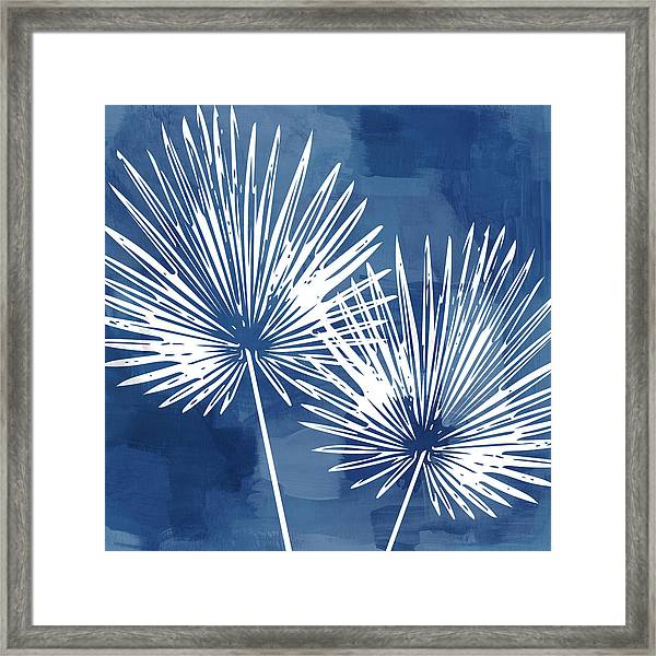 Under The Palms- Art By Linda Woods Framed Print
