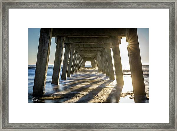 Under The Pier #2 Framed Print