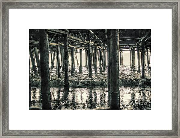 Under The Pier 5 Framed Print