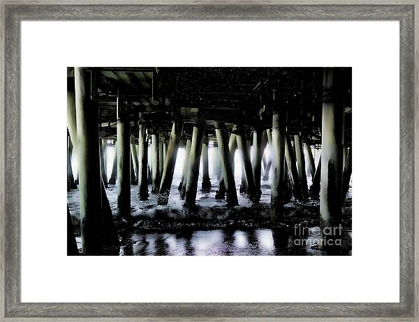 Under The Pier 6 Framed Print