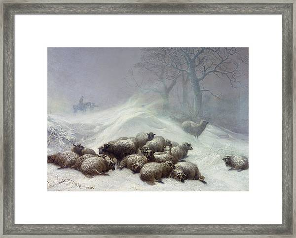 Under The Shelter Of The Shapeless Drift Framed Print