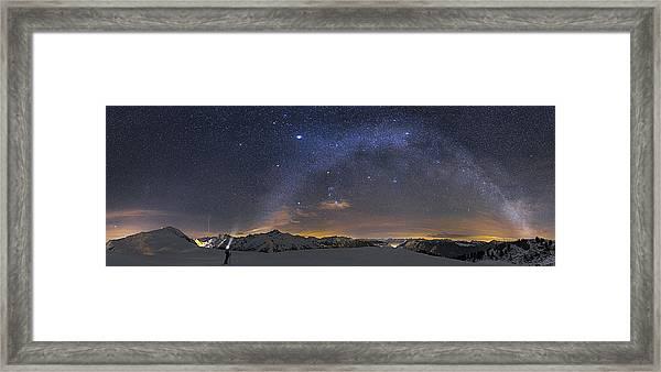 Under The Starbow Framed Print