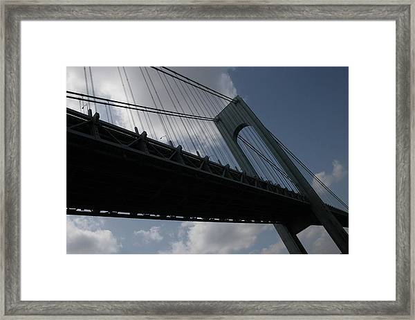 Under The Verrazano Narrows Bridge  Framed Print
