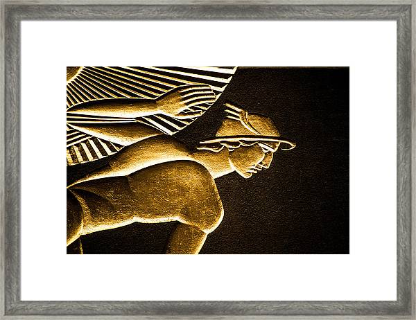 Underexposed Building Art Deco Framed Print