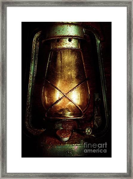 Underground Mining Lamp  Framed Print