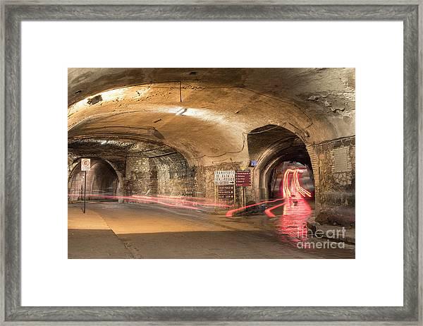 Underground Tunnels In Guanajuato, Mexico Framed Print