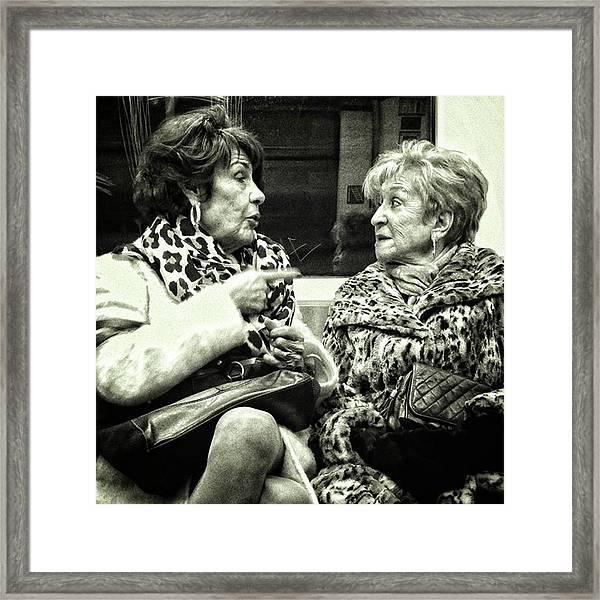 Underground Wild Ladies #women #ladies Framed Print