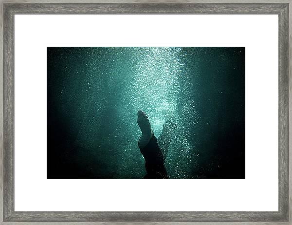 Underwater Foot Framed Print