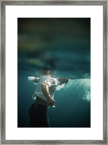 Underwater Man Framed Print