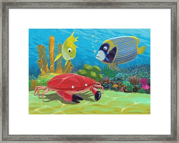 Underwater Sea Friends Framed Print