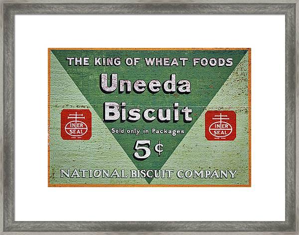 Uneeda Biscuit Vintage Sign Framed Print