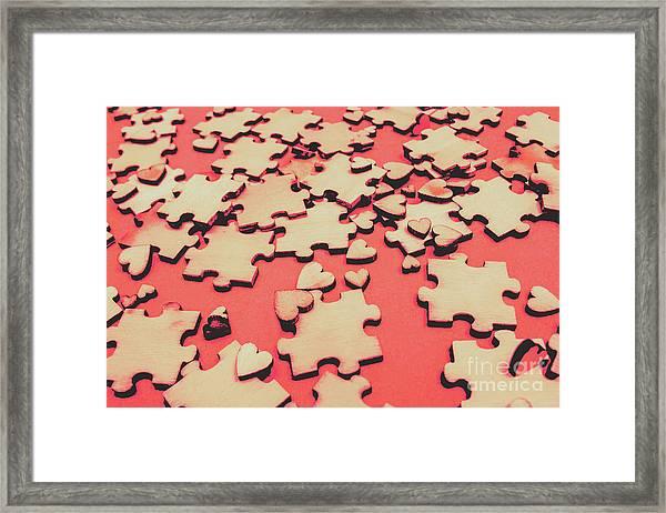 Unfinished Hearts Framed Print