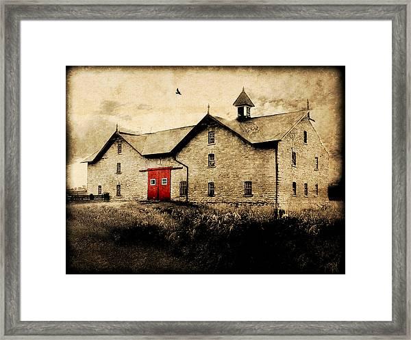 Uni Barn Framed Print