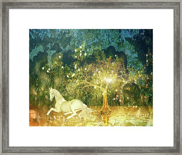 Unicorn Resting Series 3 Framed Print