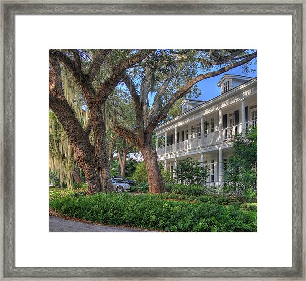 Unidentified Shack Framed Print by John Rowe