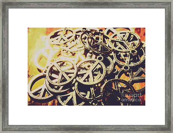 Unified Peace Framed Print