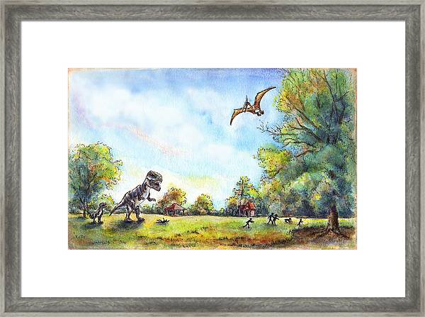 Uninvited Picnic Guests Framed Print
