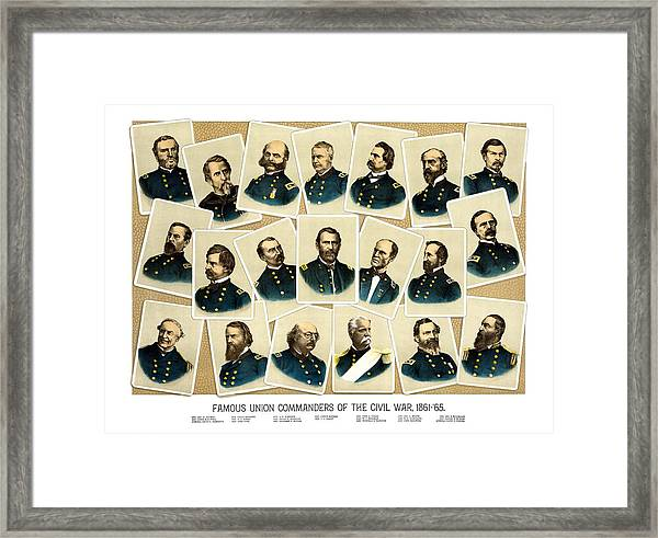 Union Commanders Of The Civil War Framed Print