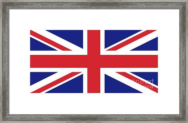 Union Jack Ensign Flag 1x2 Scale Framed Print