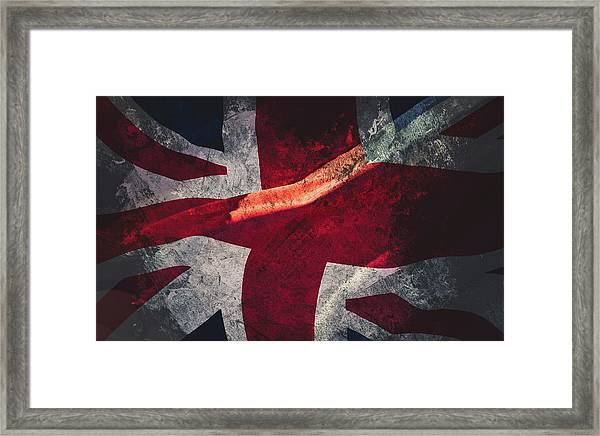 Union Jack Fine Art, Abstract Vision Of Great Britain Flag Framed Print