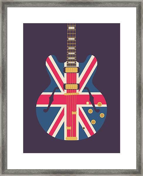 Union Jack Guitar - Original Black Framed Print