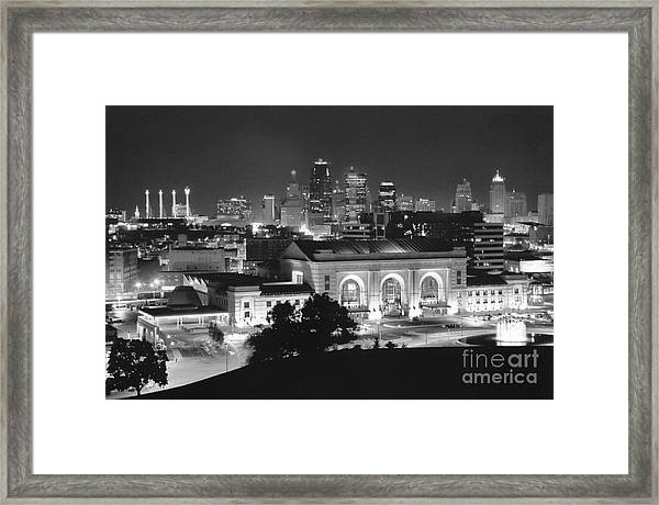 Union Station In Black And White Framed Print