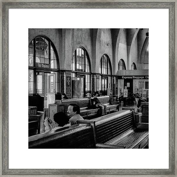 Framed Print featuring the photograph Union Station -  San Diego by Samuel M Purvis III