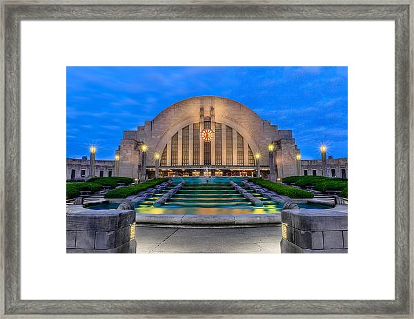 Union Terminal At Sunrise II Framed Print
