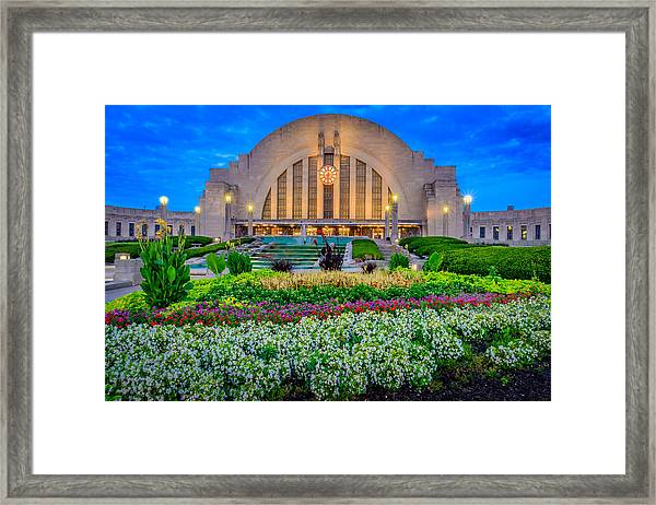 Union Terminal At Sunrise Framed Print