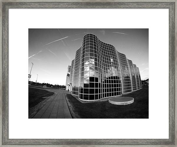 Unique Architecture At University At Albany  Framed Print