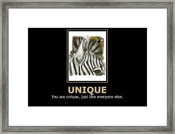 Unique Motivational Poster Framed Print
