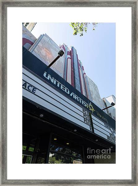 United Artists Berkeley 7 Movie Theater At University Of California Berkeley Dsc6316 Framed Print