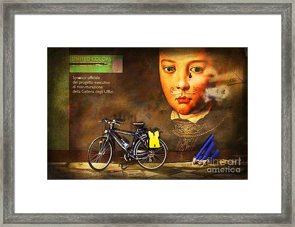 United Colors Bicycle Framed Print