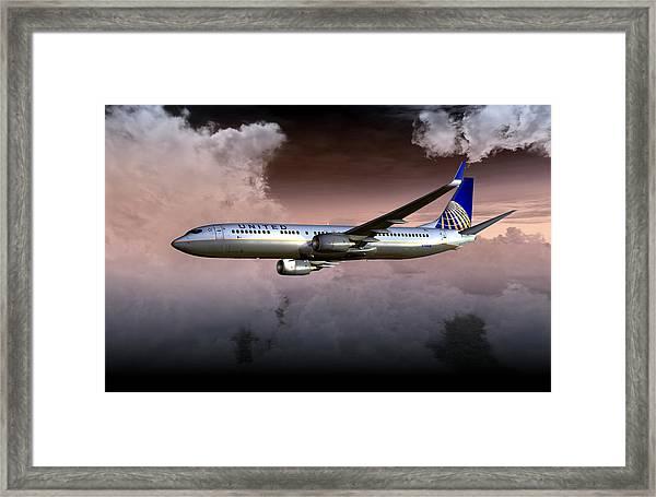 United Continental 737 Ng 01 Framed Print