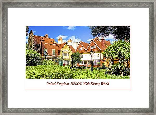United Kingdom Buildings, Epcot, Walt Disney World Framed Print
